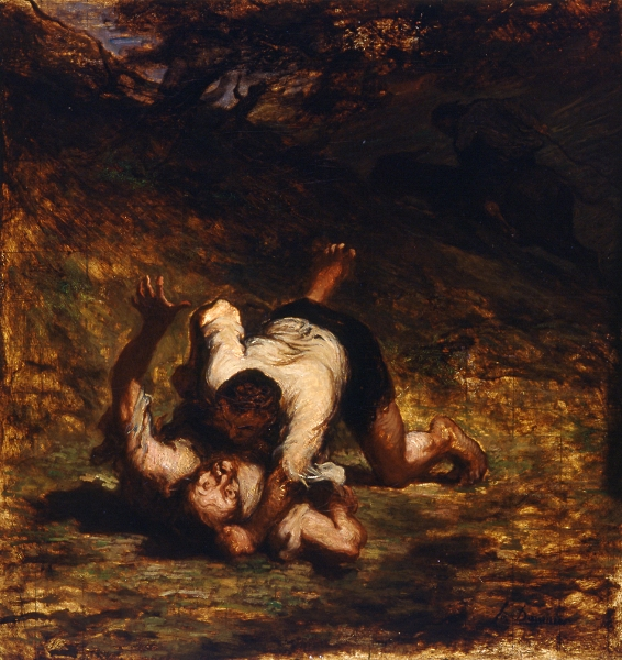 Le voleur et l'âne (1858) Honoré Daumier, Musée d'Orsay (Paris)