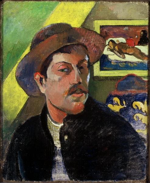 Autoportrait au chapeau (1893) Paul Gauguin, Musée d'Orsay (Paris)