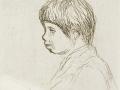 Portrait d'un jeune garçon de profil (vers 1905-1908) Auguste Renoir, Musée Le Prieuré Maurice Denis (Saint-Germain en Laye)
