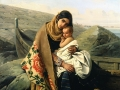 La mère heureuse (1834) Léopold Robert, Musée Rolin (Autun)