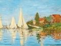 Régates à Argenteuil (vers 1872) Claude Monet, Musée d'Orsay