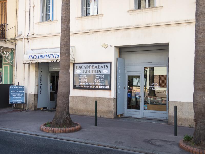 La boutique de Jacques Dubuis Encadreur à Hyères (rue Ernest Millet)